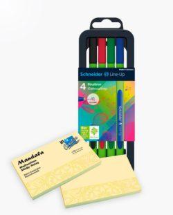 set fineliner Schneider Line-Up +mandala sticky notes