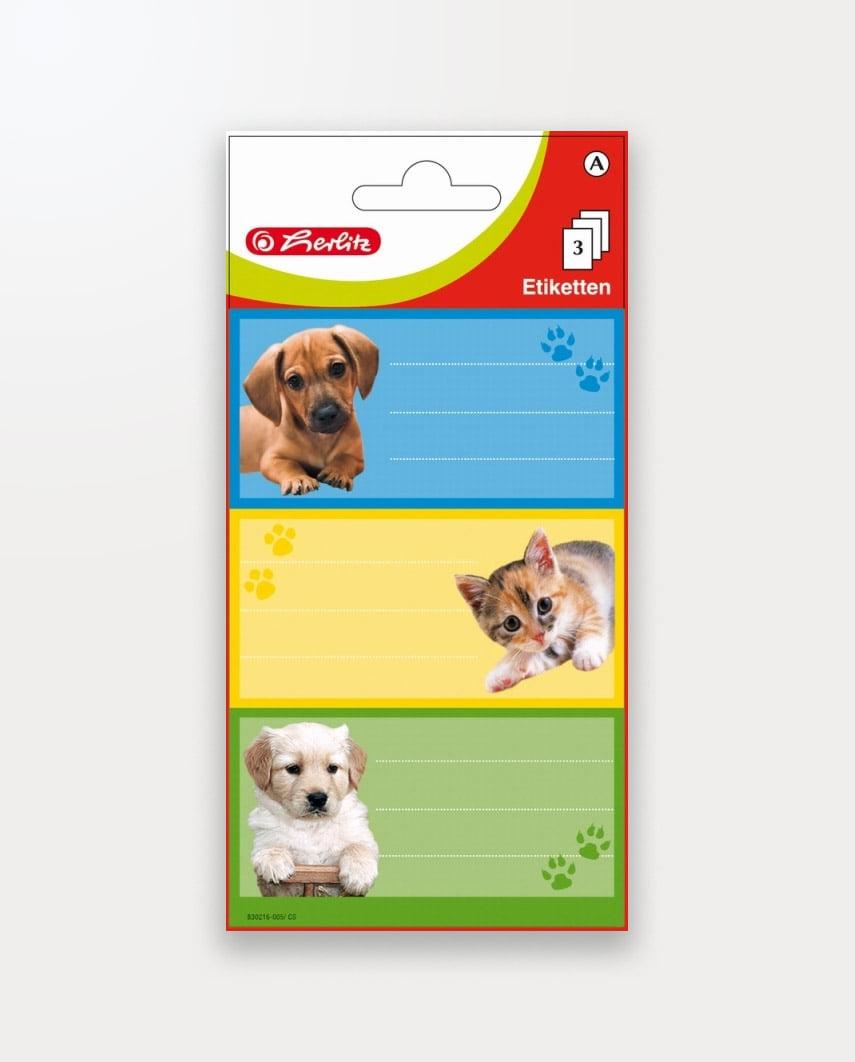 Etichete Școlare Animale