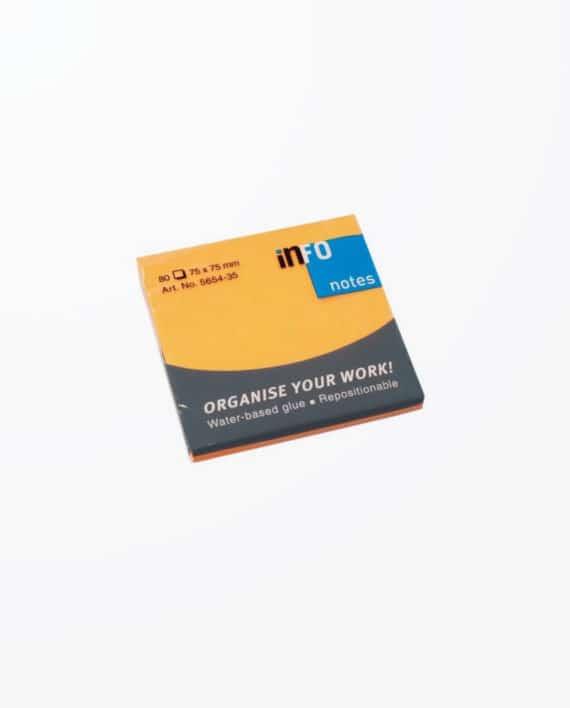 notes-adeziv-info-notes-briliant-80-75-75mm-orange