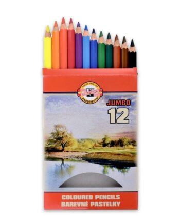 creioane colorate omega jumbo Koh-I-Noor set 12