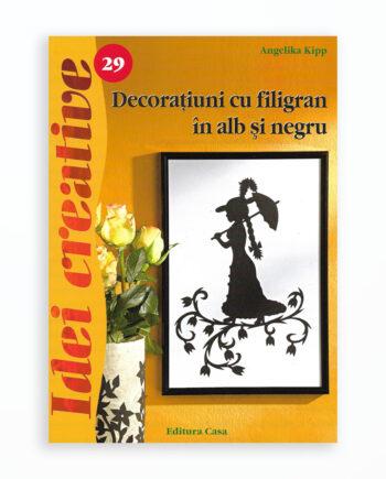 DECORATIUNI CU FILIGRAN IN ALB SI NEGRU - IDEI CREATIVE 29