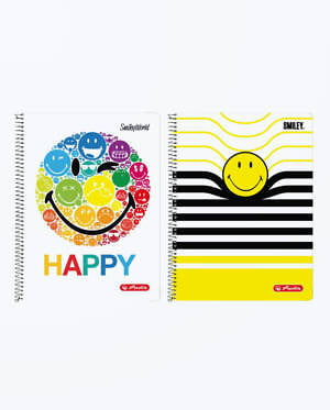 Caiet A4 80F Spirala Dictando Liniat Smiley World Diverse Modele