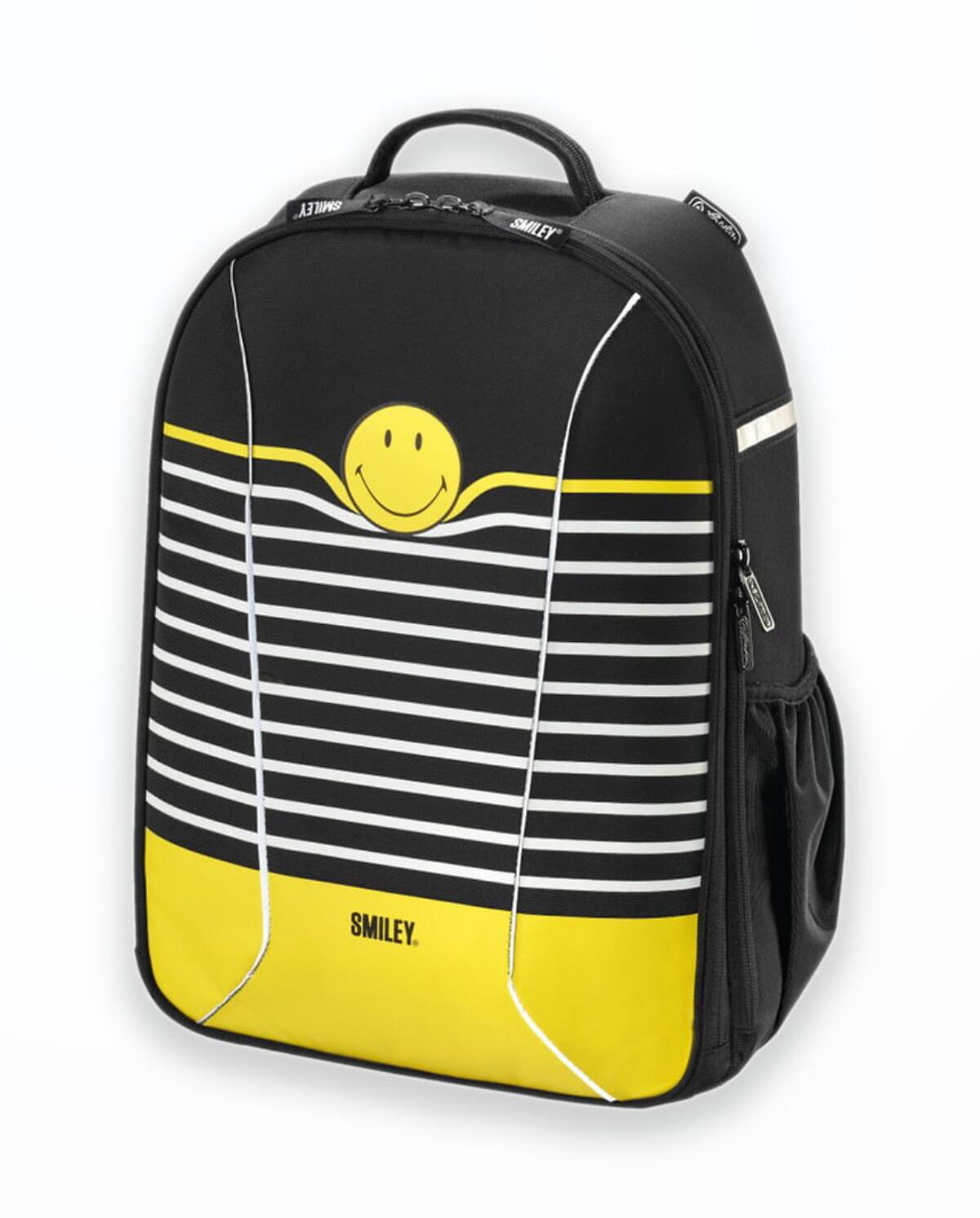Rucsac Herlitz  Be.Bag Ergonomic Airgo Smiley World Black Stripes