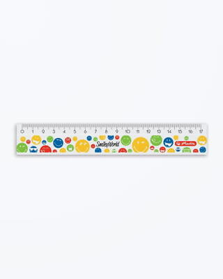 Rigla Plastic 17Cm Smileyworld Rainbow