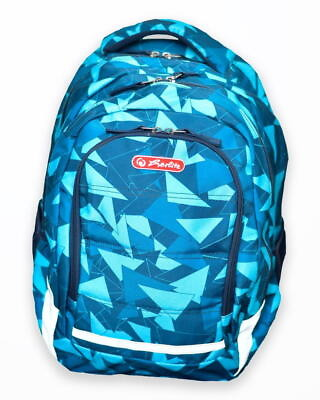 rucsac balance motiv blue triangles