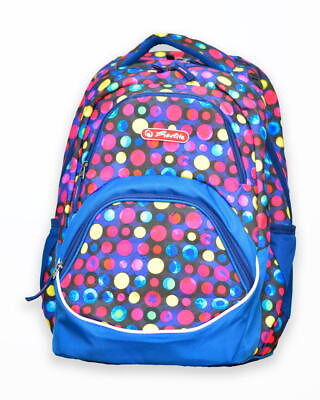 rucsac rocky motiv colorful dots