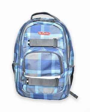 rucsac skater motiv blue checkers