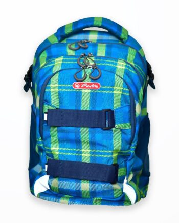 rucsac wave motiv blue-green checkers