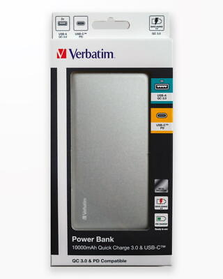 Baterie Externa Verbatim10000 Qc3 - Metal