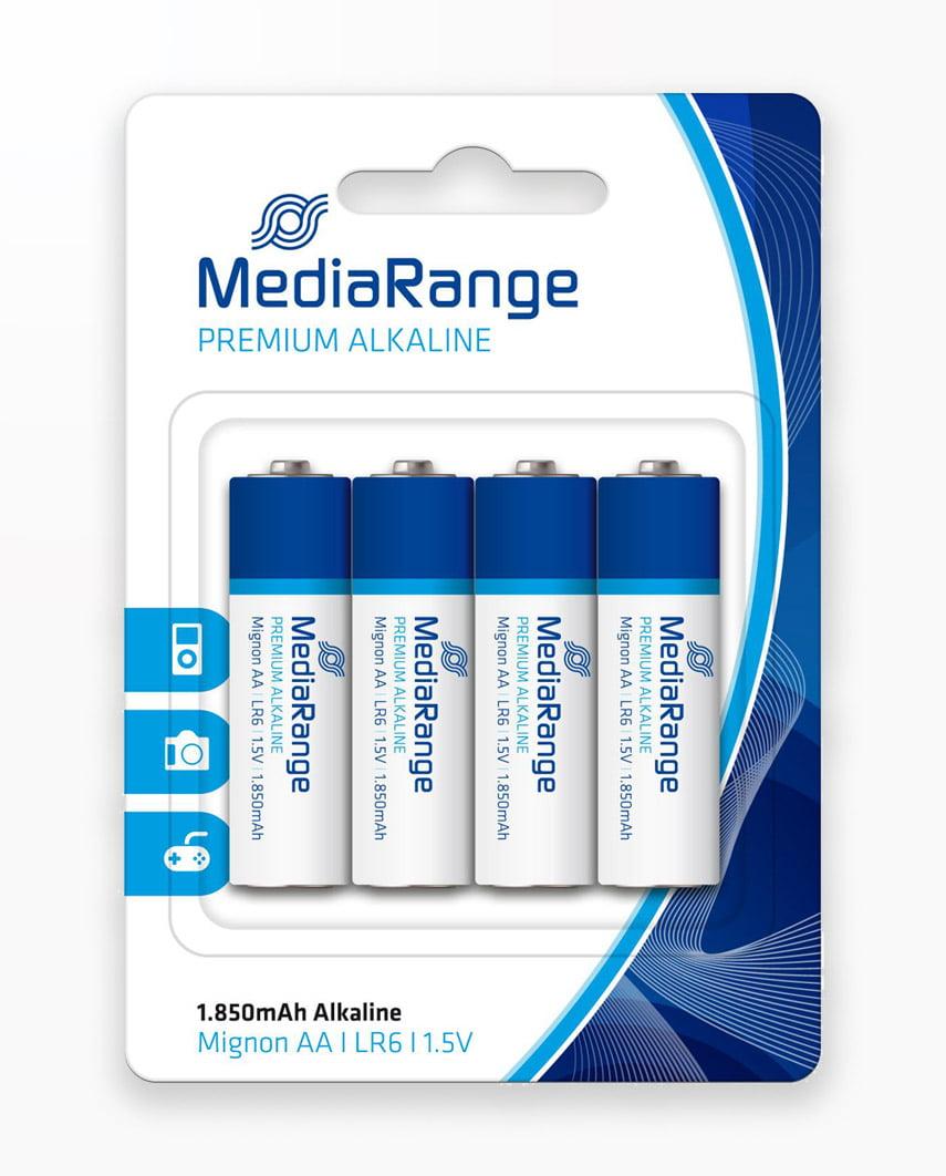 Baterii Mediarange Premium Alkaline Aaa/Lr03/1.5V - Blister Pachet 4
