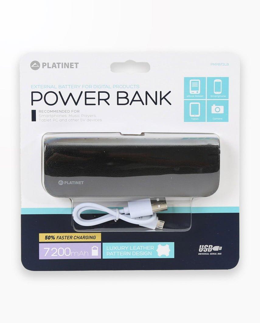 Baterie Externa Platinet Power Bank Leather 7200 Negru