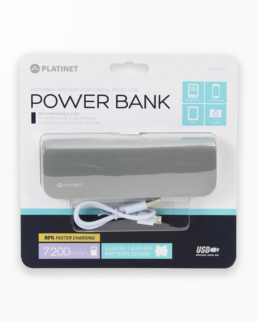 Baterie Externa Platinet Power Bank Leather 7200 Gri