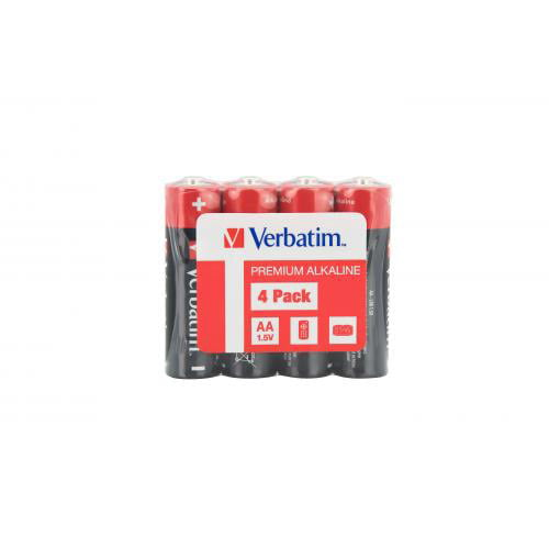 Baterii Verbatim  Alkaline Aa - Pachet 4 Folie