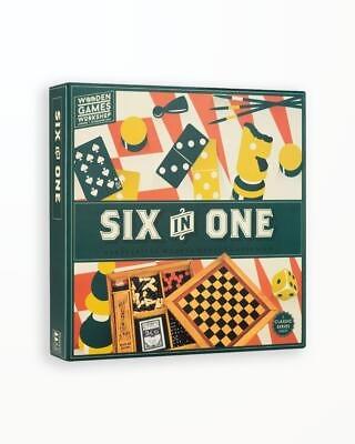 Colectie 6 Jocuri in 1 - Wooden Games Workshop