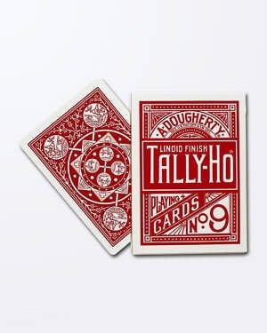 Carti de Joc Tally-Ho Fan Back - Rosu