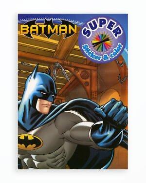 Batman - Super Sticker & Color