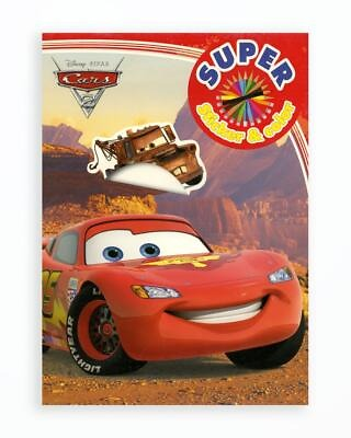 Cars - Super Sticker & Color