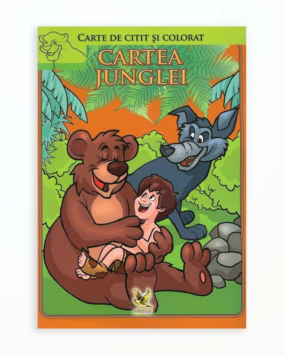 Cartea Junglei - Carte de Citit si Colorat