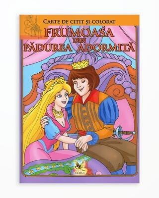Frumoasa din Padurea Adormita - Carte de Citit si Colorat
