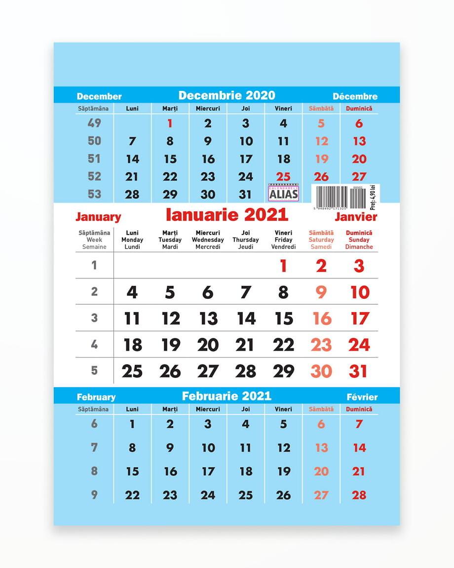 Calendar Triptic A5 – 2021
